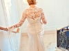 Lace and silk wedding gown