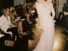 Beautiful frill silk wedding dress